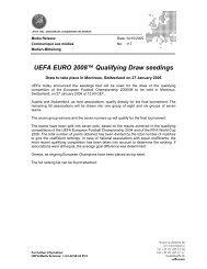 UEFA EURO 2008 Qualifying Draw seedings