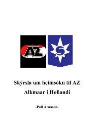 Skýrsla um heimsókn til AZ Alkmaar í Hollandi