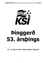 Þinggerð 53 ársþings