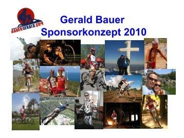 Gerald Bauer Sponsorkonzept 2010