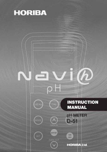 Horiba D-51 Manual