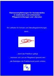 Rahmenempfehlungen für Sozialpraktika in stationären und ...