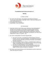 Satzung als PDF - Freundeskreis des Klinikums Konstanz eV