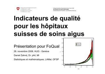 Indicateurs de qualité pour les hôpitaux suisses de soins aigus