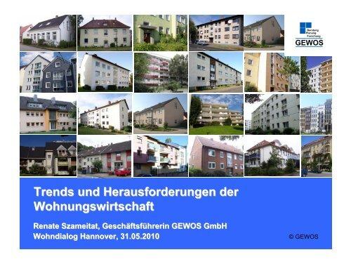 Trends und Herausforderungen der Wohnungswirtschaft