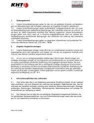 Allgemeine Einkaufsbedingungen KHT - Rupf Industries