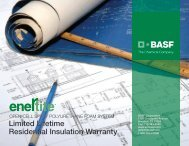 Limited Lifetime Residential Insulation Warranty