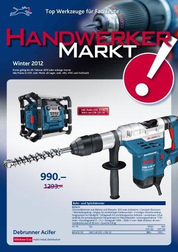 Top Werkzeuge für Fachleute Winter 2012