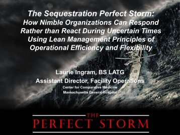 The Sequestration Perfect Storm