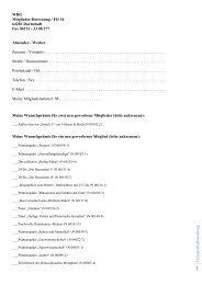 33 08 277 Absender / Werber Zuname / Vorname - WBG