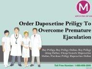 Order dapoxetine Priligy to overcome premature ejaculation