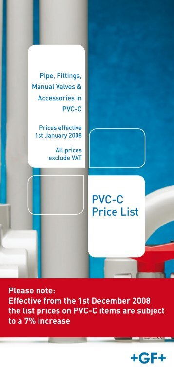 Effective from the 1st December 2008 the list prices on ... - Spa Plastics