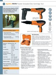 Spitfire P370 Powder Actuated Disc Cartridge Tool