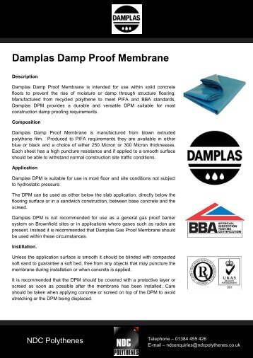 Damplas Damp Proof Membrane
