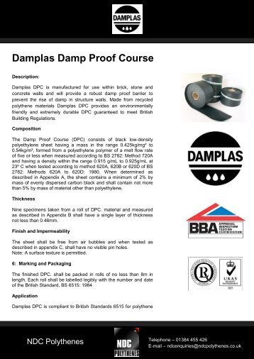 Damplas Damp Proof Course
