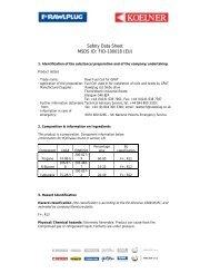 Safety Data Sheet MSDS ID FID-100018 (EU)