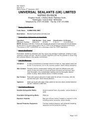 UNIVERSAL SEALANTS (UK) LIMITED longterm