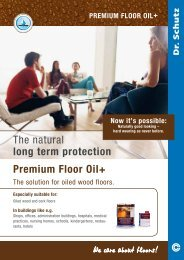 The natural long term protection Premium Floor Oil+