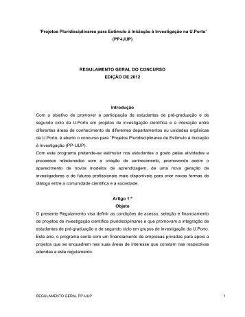 Regulamento Geral - IJUP - Universidade do Porto