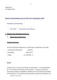 bericht bürgermeister zur svv am 8. dezember 2010 - Guben