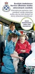 Scottish Ambulance Service (Škótska služba zdravotných vozidiel)