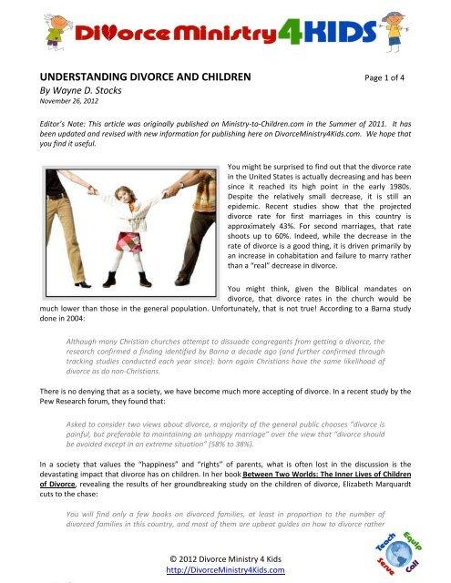 UNDERSTANDING DIVORCE AND CHILDREN