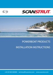 POWERBOAT PRODUCTS INSTALLATION INSTRUCTIONS