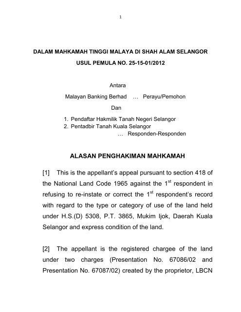 Pendaftar Hakmilik Negeri Selangor