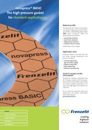 novapress® BASIC The high-pressure gasket for standard applications