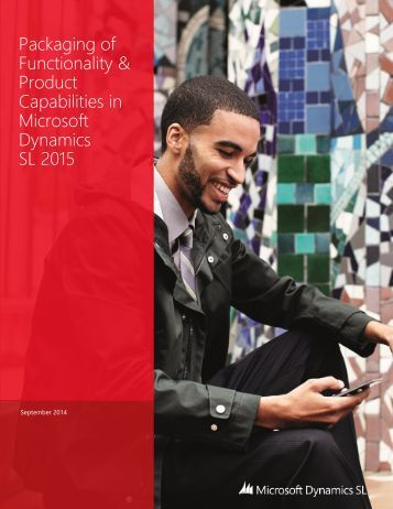Packaging of Functionality & Product Capabilities in Microsoft Dynamics SL 2015