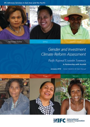 Gender and Investment Climate Reform Assessment - IFC