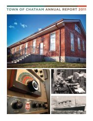 Town of Chatham ANNUAL REPORT 2011
