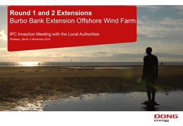 Round 1 and 2 Extensions Burbo Bank Extension Offshore Wind Farm