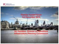 Thames Tunnel Forum 3rd December 2010 Ian Gambles- Director of ...