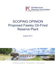 SCOPING OPINION Proposed Fawley Oil-Fired Reserve Plant