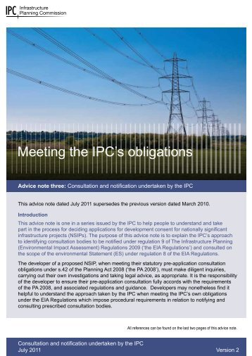 Meeting the IPC's obligations