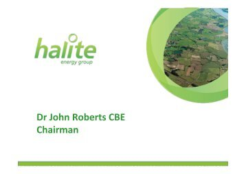 Dr John Roberts CBE Chairman