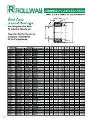Steel Cage Journal Bearings..
