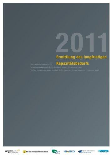 Ermittlung des langfristigen Kapazitätsbedarfs 2011