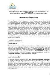 Gerência de Arte e Cultur - Fundação CASA - Governo do Estado de ...