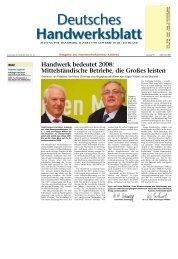 Handwerk bedeutet 2008 - Handwerkskammer Koblenz