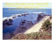 Managing Moss Beach and the Montara SMR