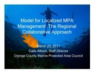 Model for Localized MPA Management The Regional Collaborative Approach