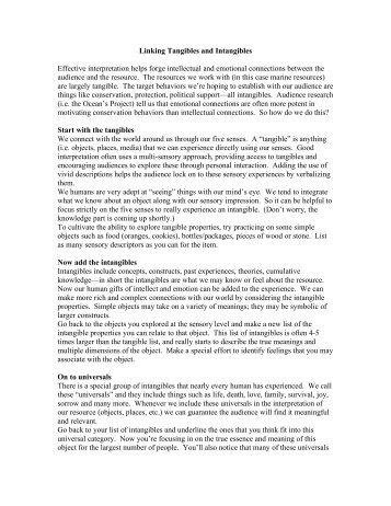 Linking Tangibles and Intangibles - California MPA Educational ...