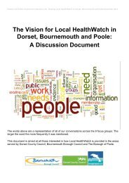 Dorset Bournemouth and Poole A Discussion Document