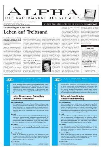 Leben auf Treibsand - E-Paper Anmeldung - Tages-Anzeiger