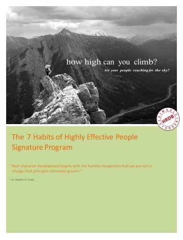 The 7 Habits of Highly Effective People Signature Program