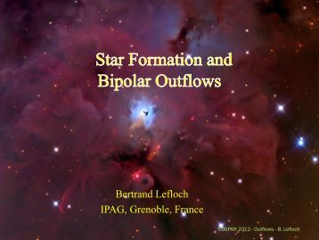 What are protostellar outflows are