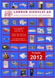 Schamotte B31 handgeformt - Lohner Ziegelei AG, Lohn