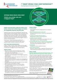 7 TABIAT ORANG YANG AMAT BERKESAN™ - Leadershipresources